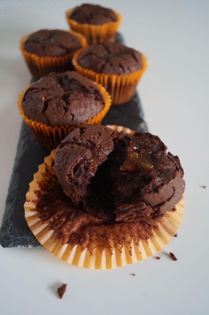 Chocolate & orange marmelade muffins