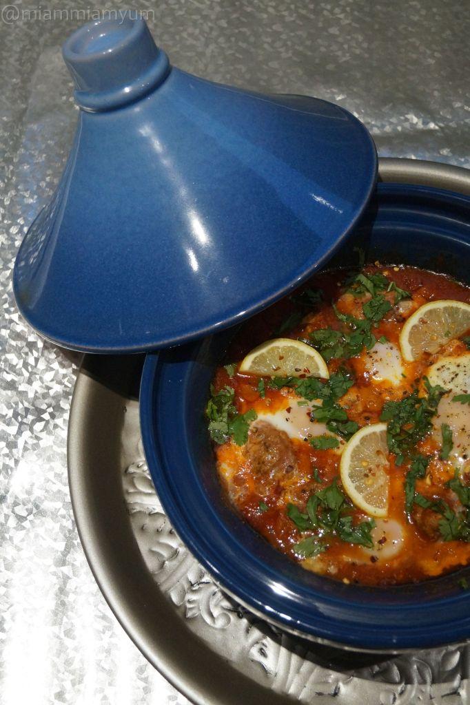 Kefta and egg tagine