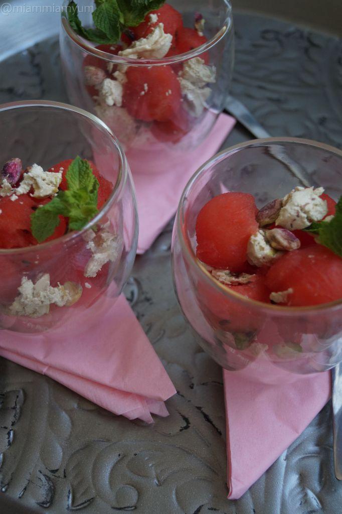Watermelon pistachio halva
