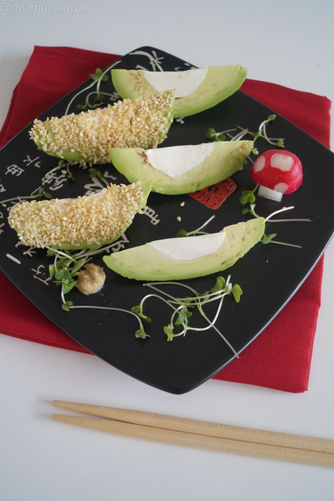 Wasabi cream cheese avocado