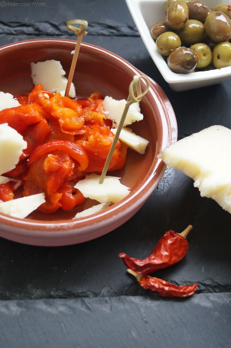Grilled red pepper & manchego cheese 1