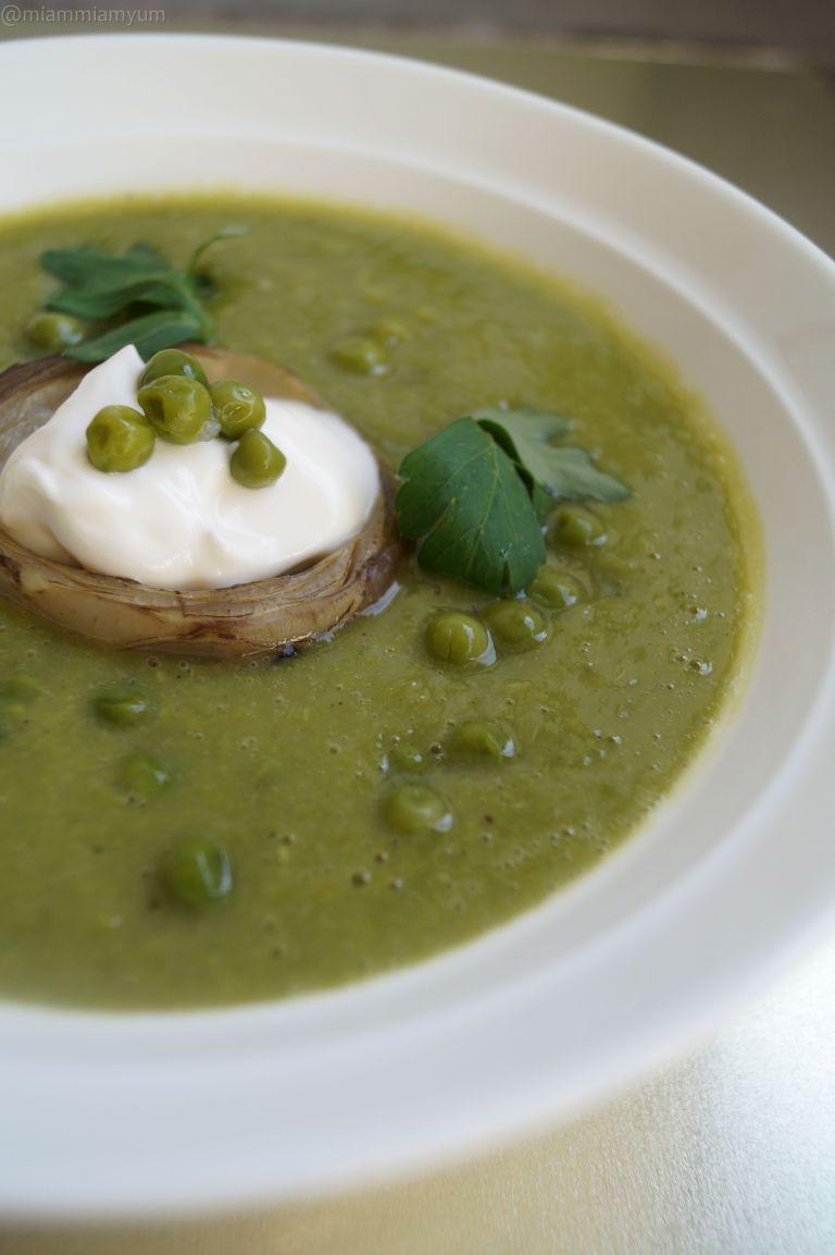 Pea artichoke soup