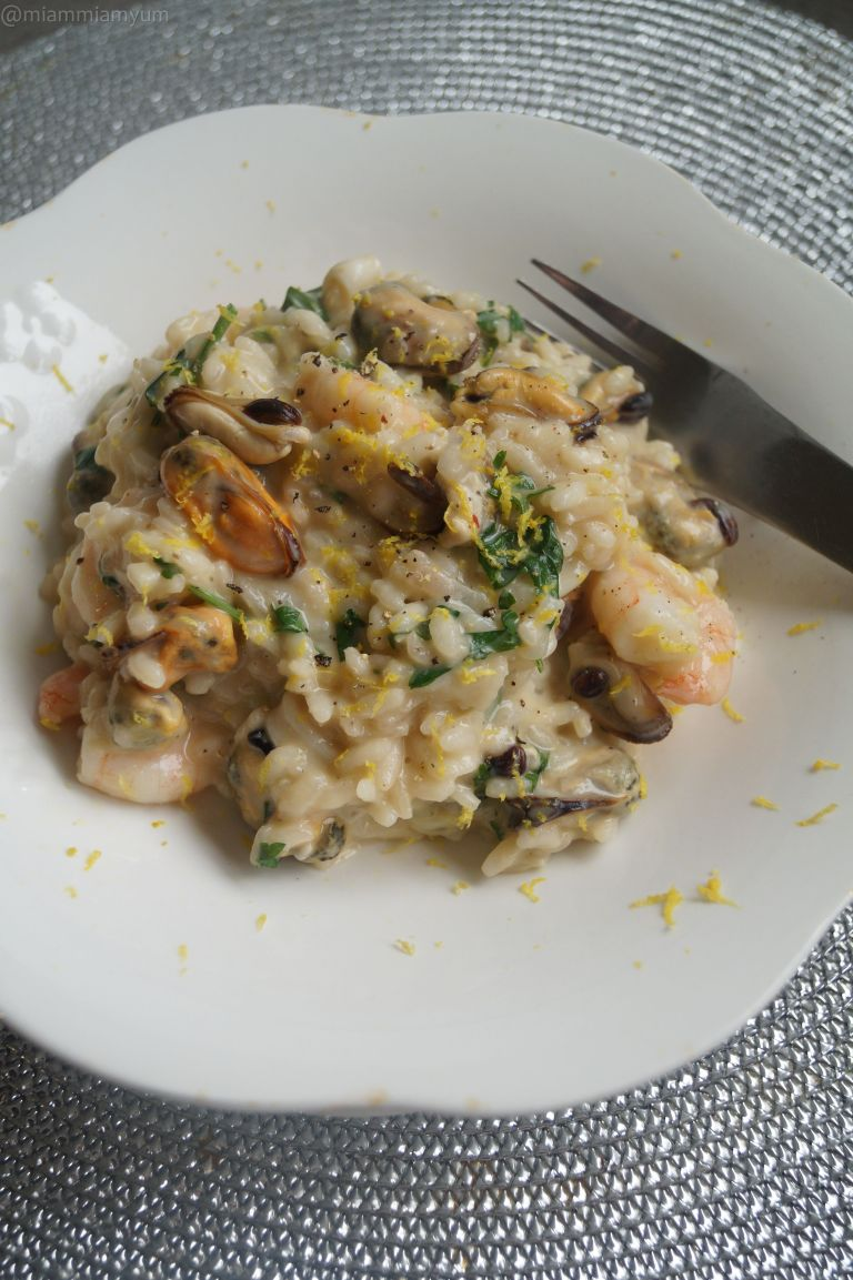 Seafood lemon risotto