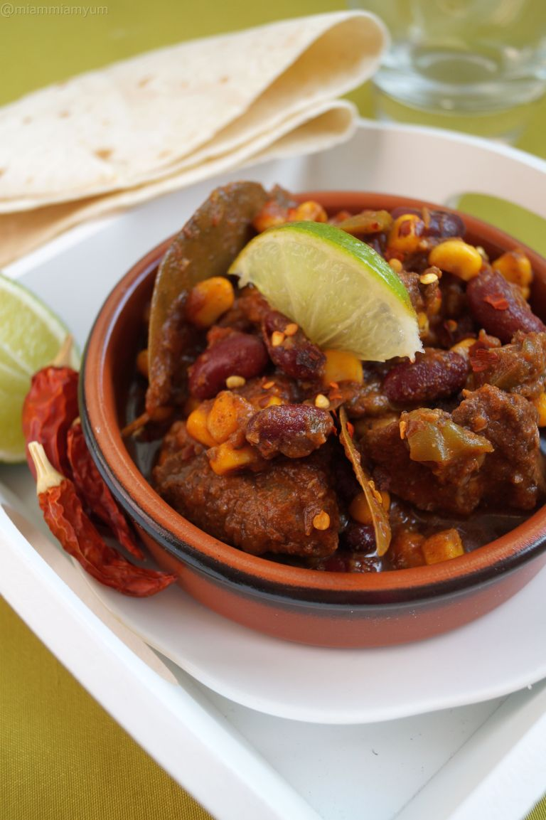 Chunky beef chilli con carne