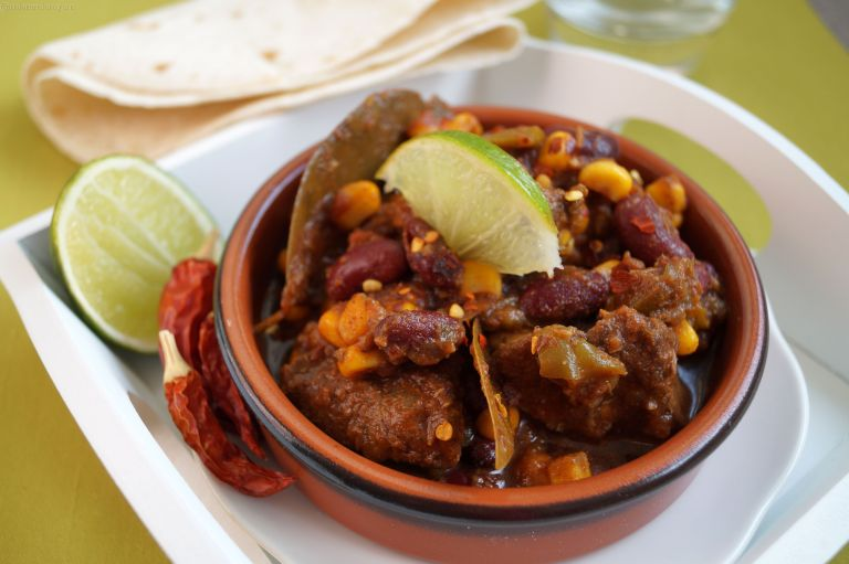 Chunky beef chillli con carne