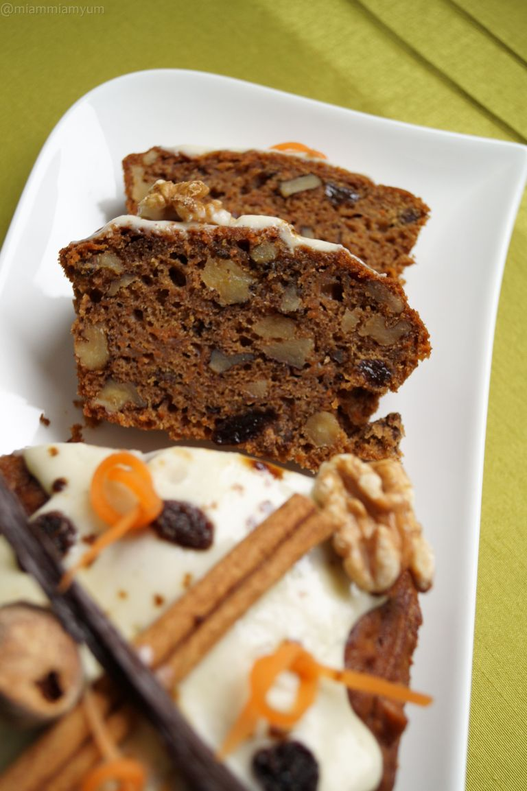 Carrot cake sliced 2