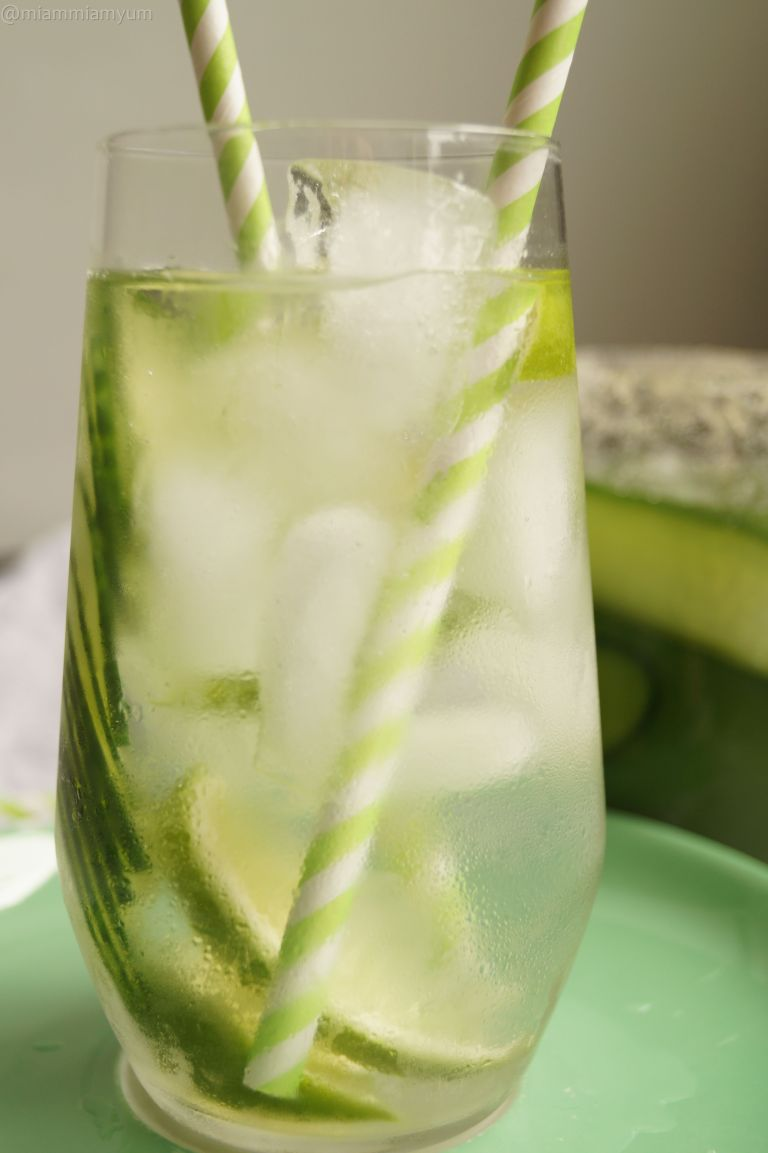 Cucumber lime infused water