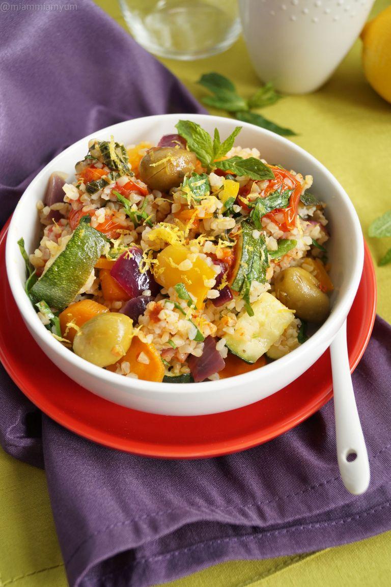 Roasted mediterranean veg & boulghour salad 1