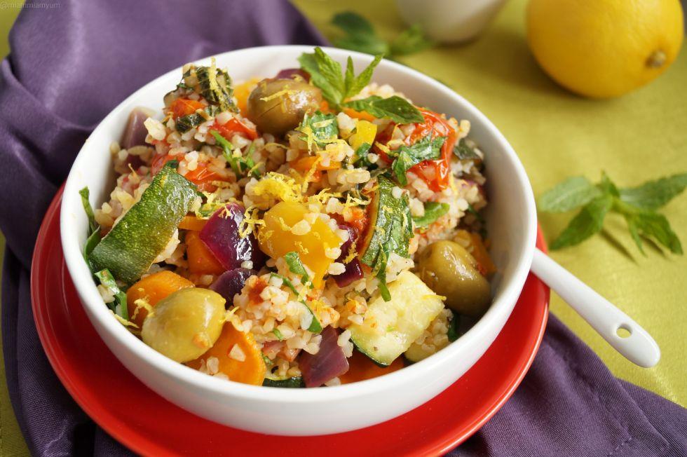 Roasted mediterranean veg & boulghour salad 2