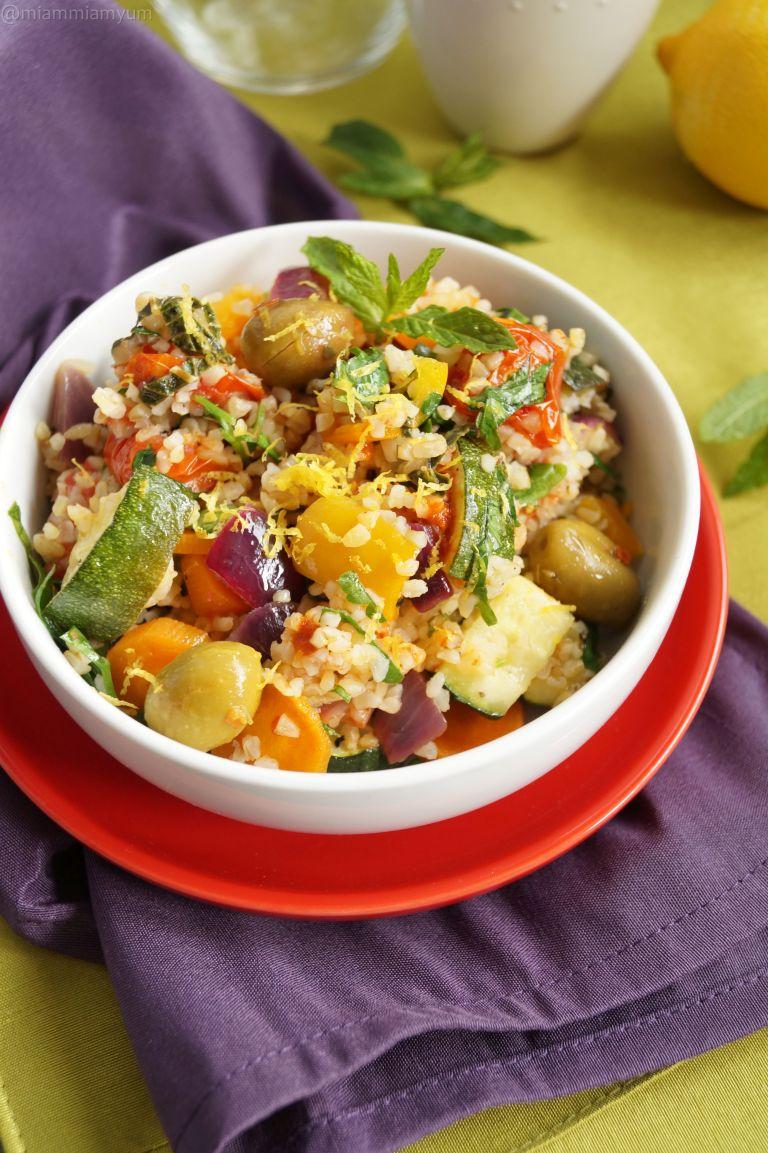 Roasted mediterranean veg & boulghour salad 3
