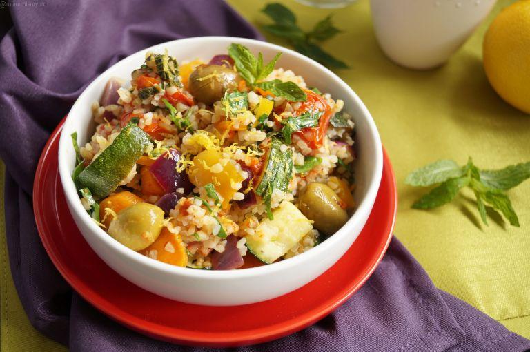 Roasted mediterranean veg & boulghour salad 4