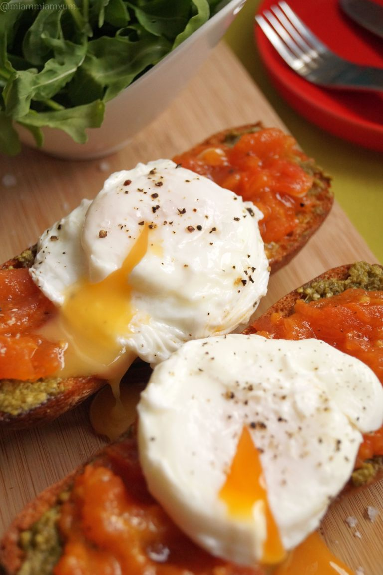 Italian job - pesto tomato ciabatta & poached egg 2