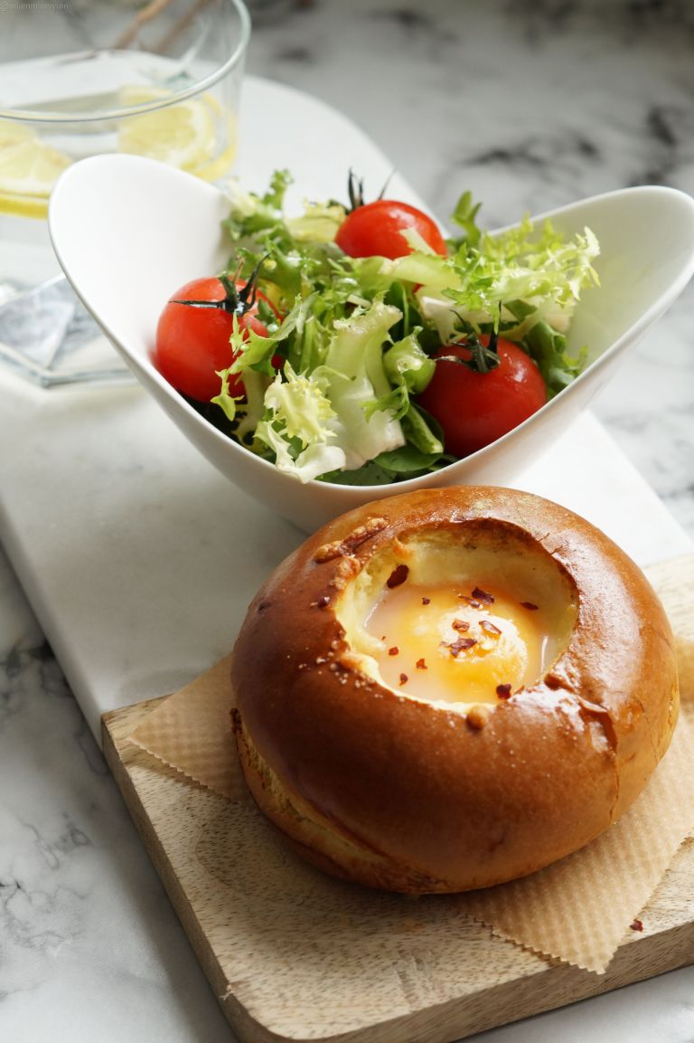 Egg & cheese brioche