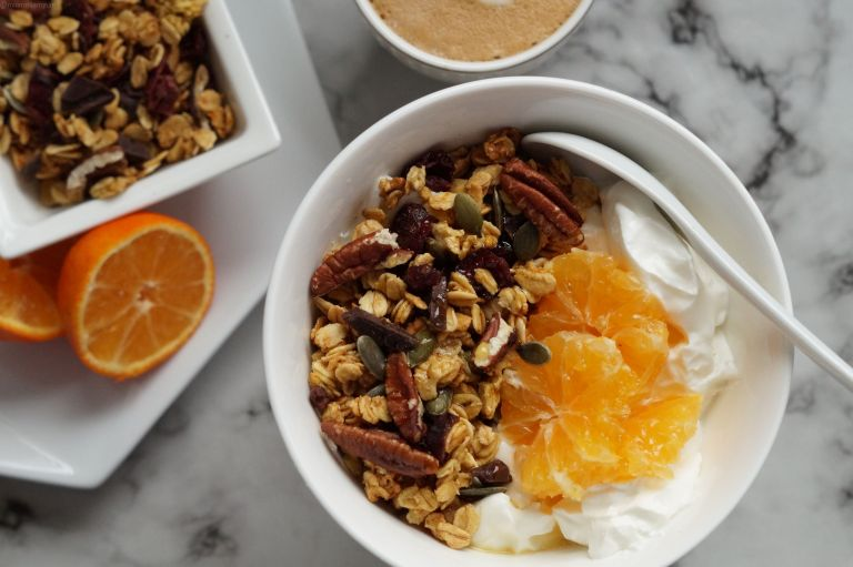 Orange cranberry chocolate granola 4