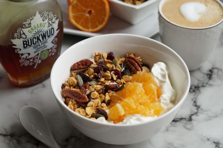 Orange cranberry chocolate granola BW