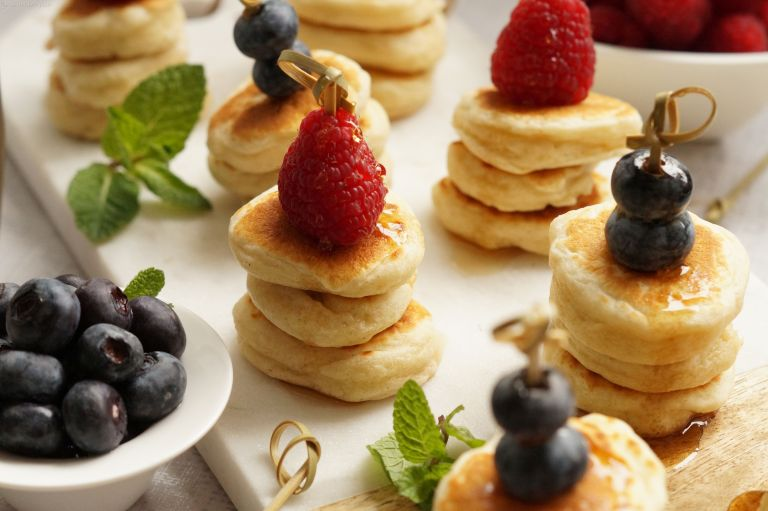 Fluffy mini pancake stack 1