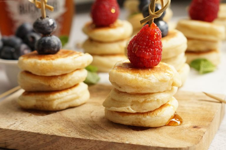 Fluffy mini pancake stack 3