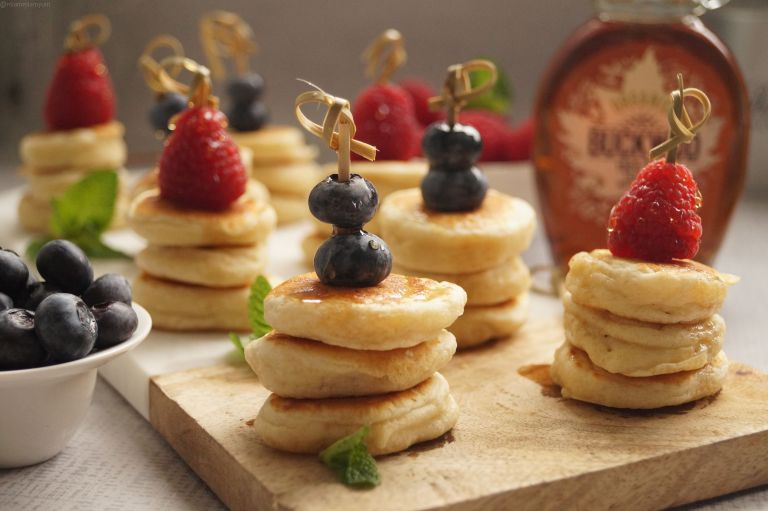 Fluffy mini pancake stack 5