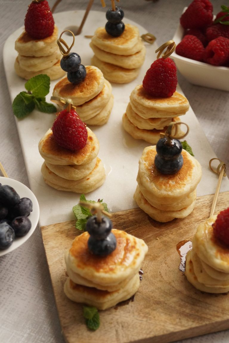 Fluffy mini pancake stack 6
