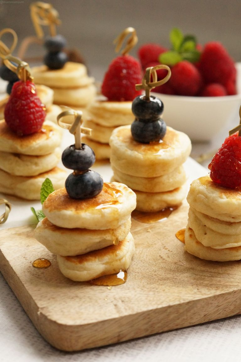 Fluffy mini pancake stack