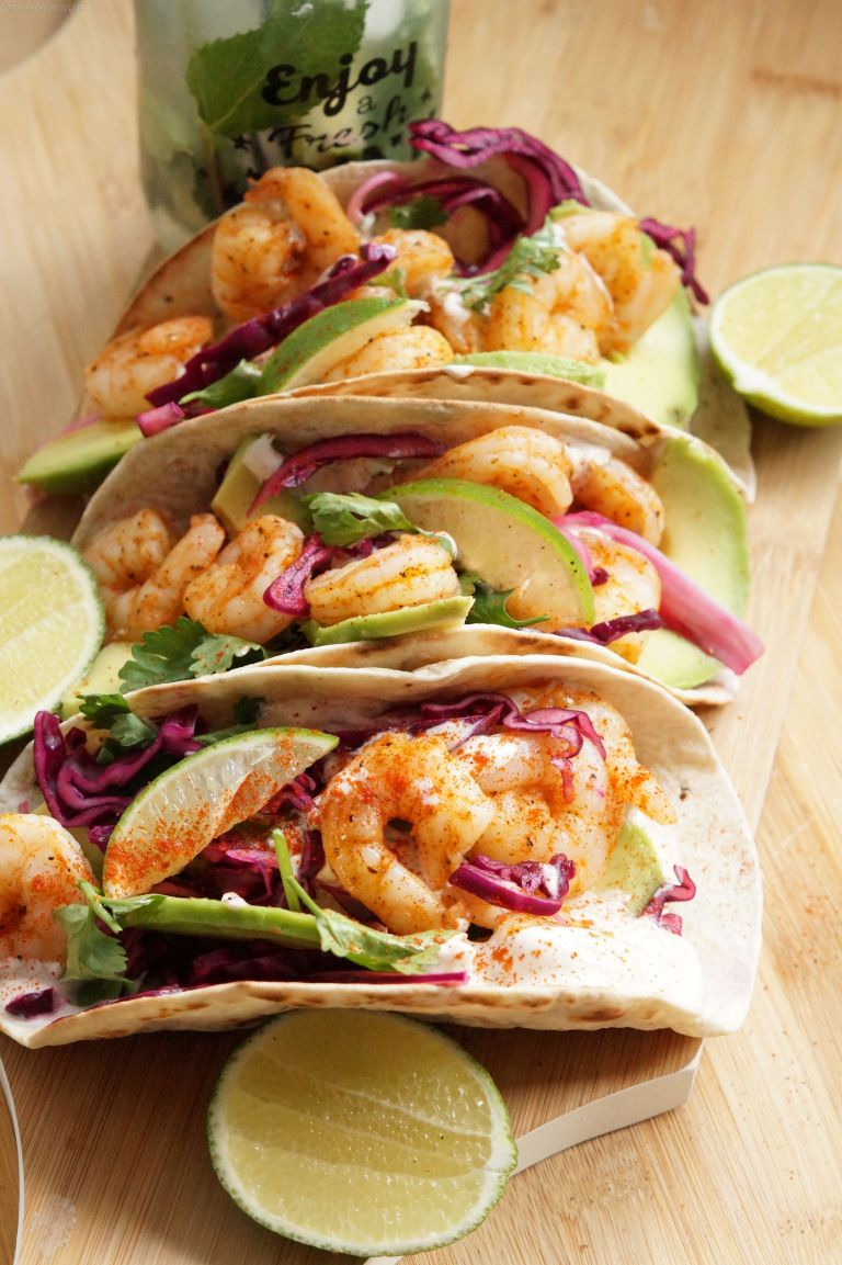 Chipotle prawn tacos 1