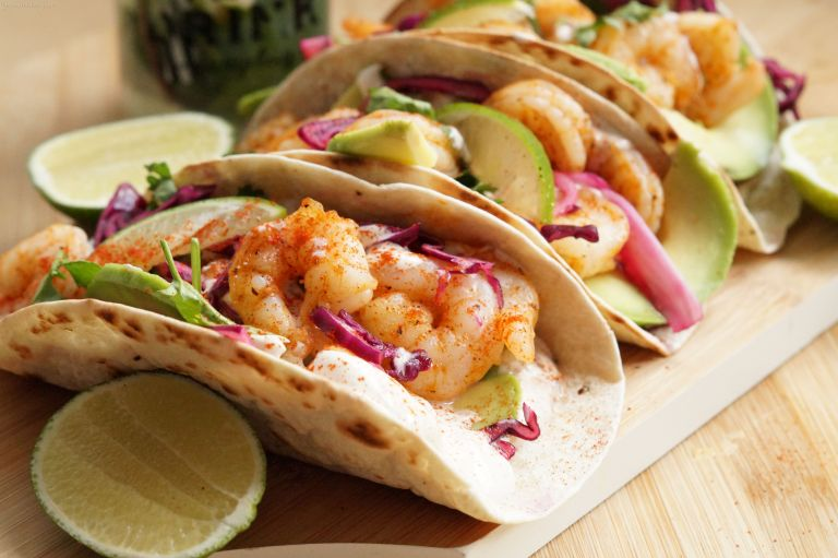 Chipotle prawn tacos 2