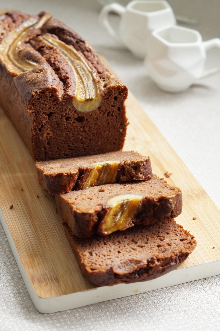 Chocolate & Pecan banana bread