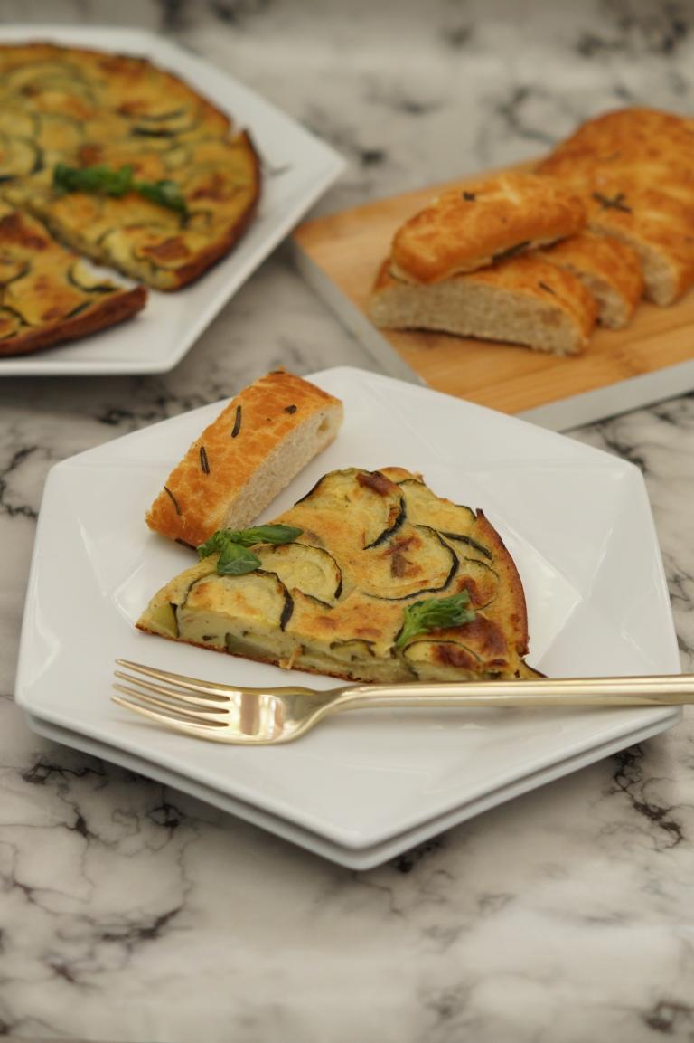 Courgette & Parmesan scarpaccia 1