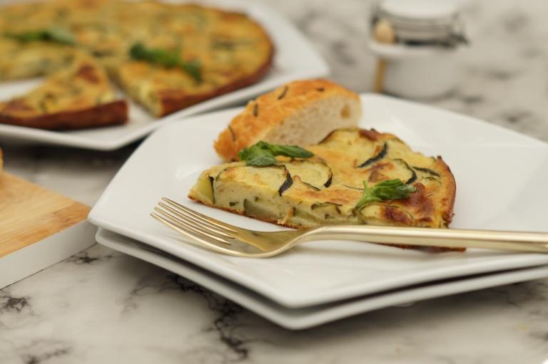 Courgette & Parmesan scarpaccia
