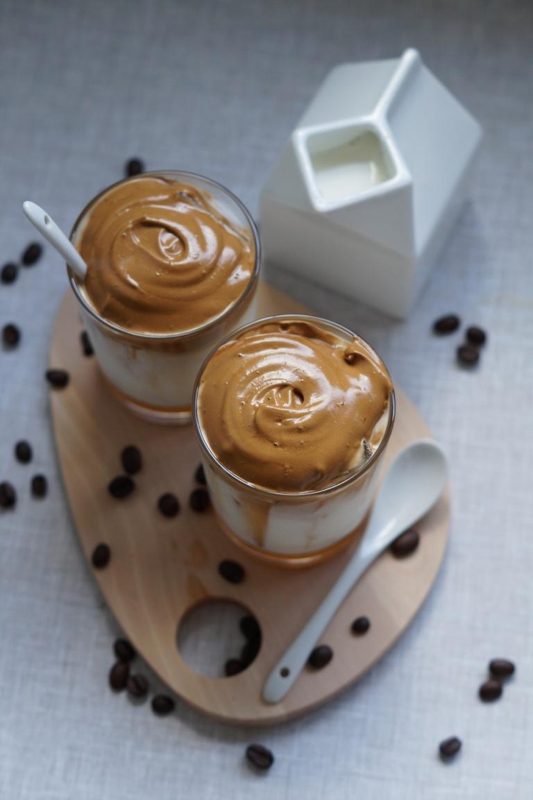 Dalgona coffee - Korean whipped coffee - Tik Tok